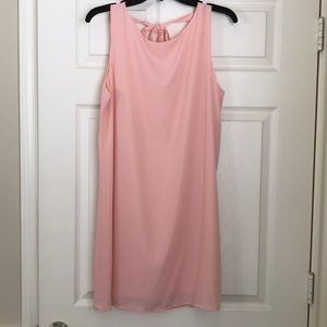 Pink fully lined dress. Size L